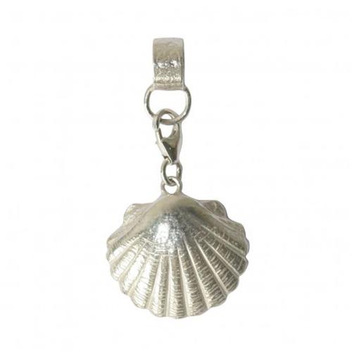 Zilveren Jacobs mossel hanger